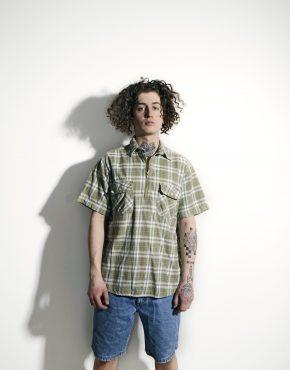 LEVI'S vintage polo shirt men green