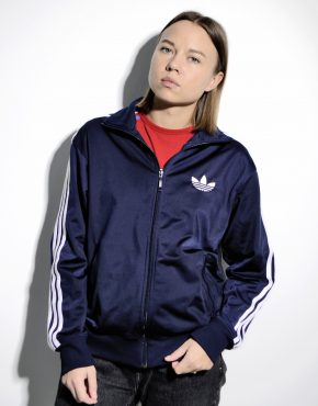 ADIDAS retro 80s classic jacket blue
