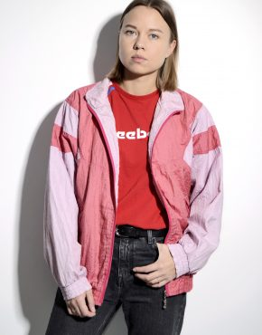 80s Old School pink track jacket