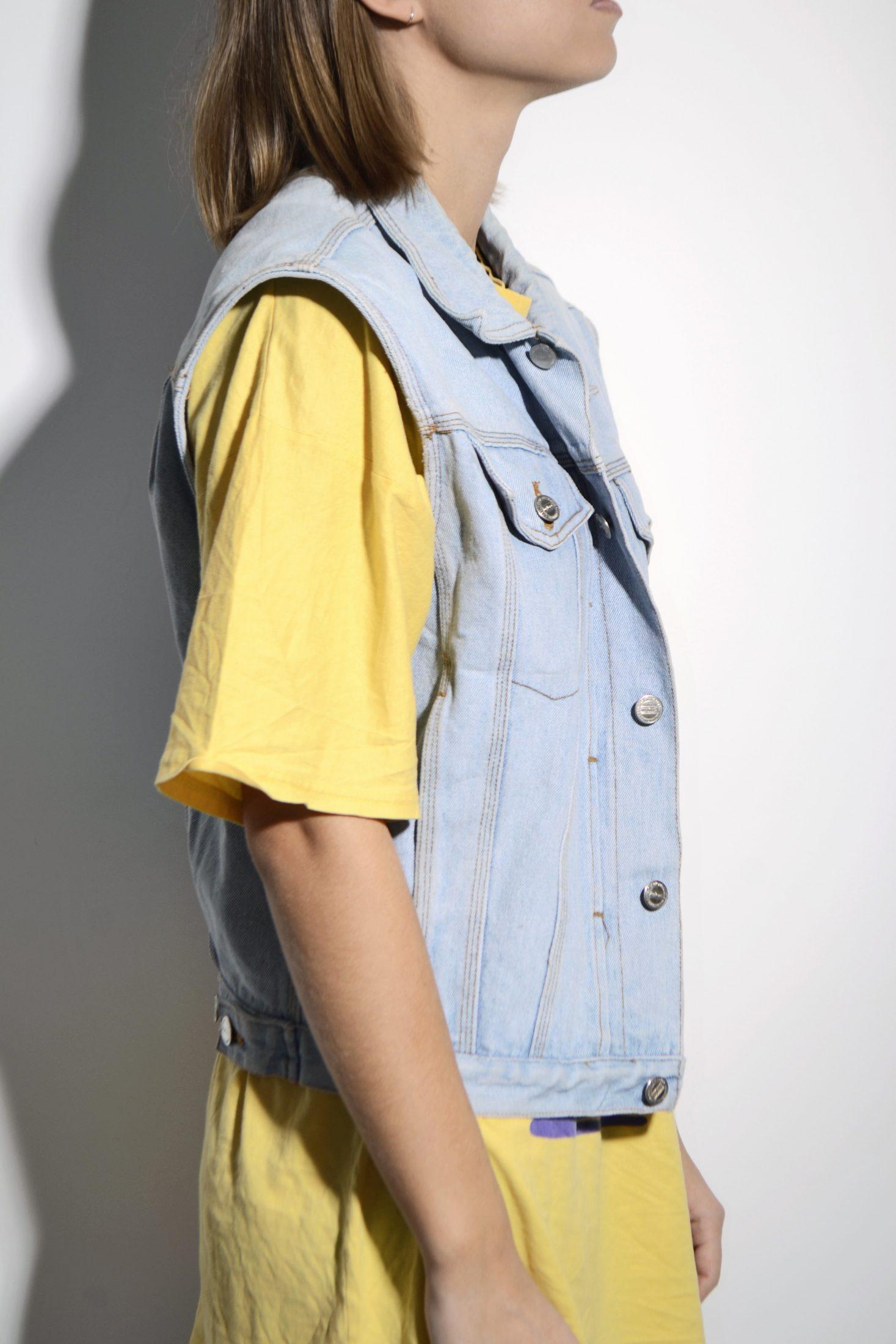 Vintage 80s Camptown Club Vest Green Blue Vest Vintage Shirt 80s Fashion Vintage Top 80s Vest New With Tags