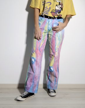 Vintage 80s women's hipster multi trousers