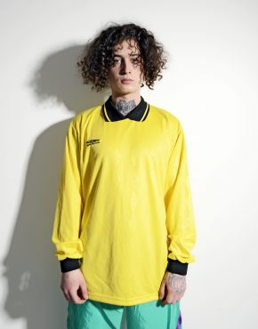 UMBRO football yellow shirt for men