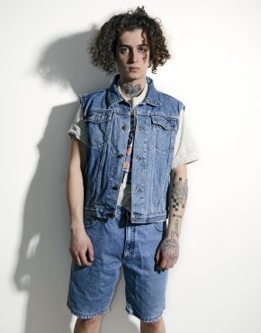 Vintage denim gilet men