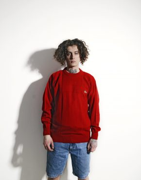 LACOSTE vintage red sweater