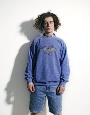 90s vintage blue sweatshirt