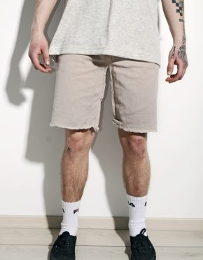 Beige cut off shorts