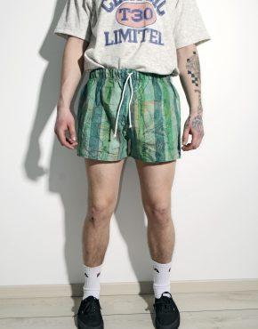 Retro green summer shorts