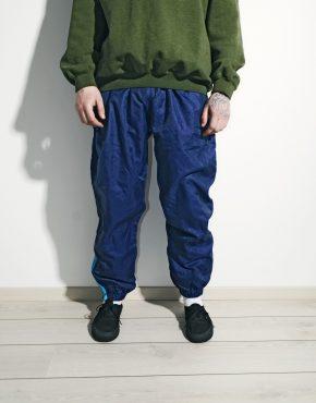 Vintage sport trousers festival blue pants