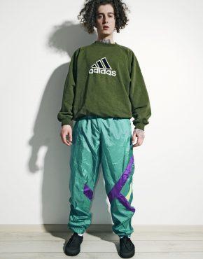 Vintage nylon green pants