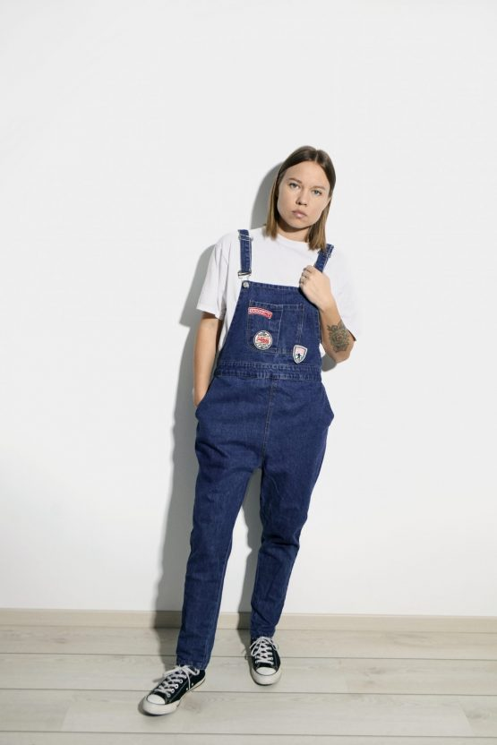 Vintage denim dungaree