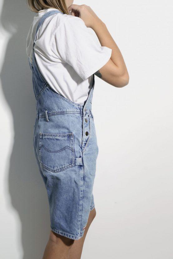 80s short denim dungaree
