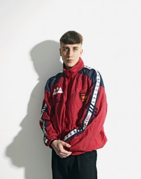 Old School ADIDAS red windbreaker