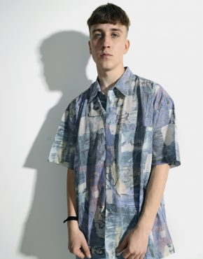 90s pastel print multi shirt men