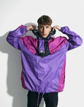 Retro windbreaker jacket