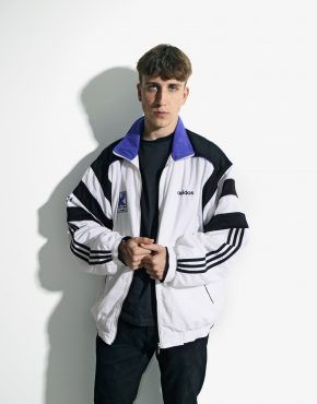 ADIDAS windbreaker white jacket