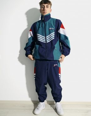 Retro 80s multi shell suit mens