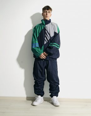 80s retro nylon tracksuit set mens