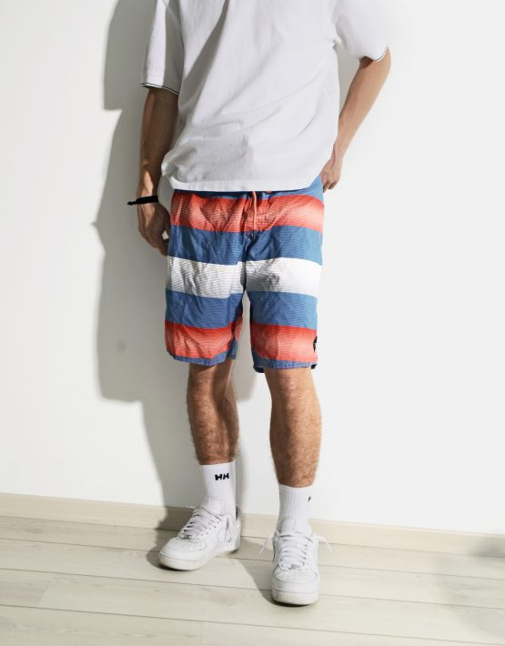 """Vintage ONEILL boardshorts for men with one back pocket. Size - L/XL (36 on the label). Model is 180 cm / 5'9"""" tall and usually wears size M. Very good vintage condition."""