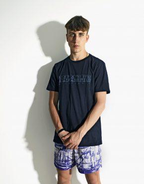 NAPAPIJRI navy vintage t-shirt