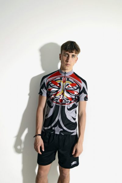 90s abstract vintage cycling jersey