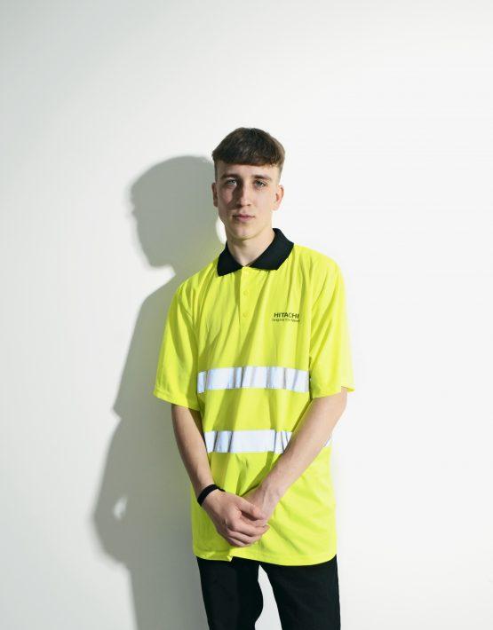 Workwear Neon Yellow Shirt for Men