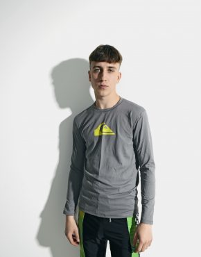 Quiksilver long sleeve surf t-shirt grey