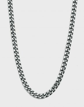 90s SILVER CHAIN NECKLACE