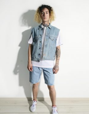 Vintage denim vest men