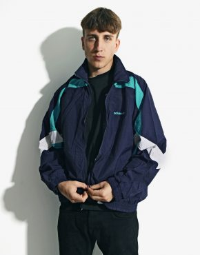 Old School ADIDAS blue windbreaker