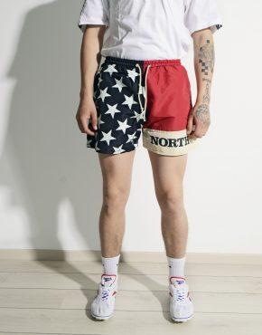 Retro beach summer shorts mens