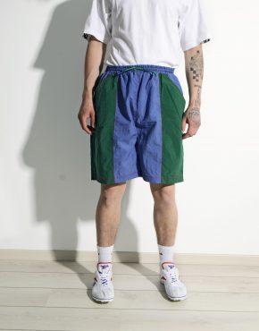 Vintage 90s board shorts green blue