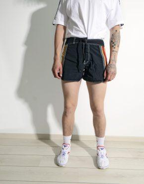 Retro 70s beach summer shorts black