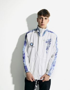 ADIDAS windbreaker white jacket for men