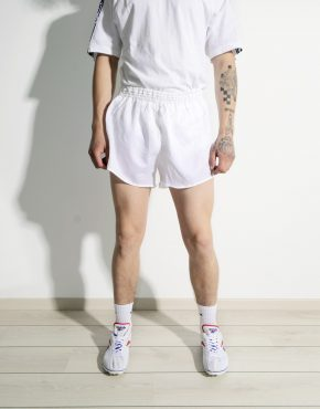 Retro white sport shorts for men by Erima