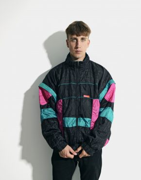 retro multi colour block jacket