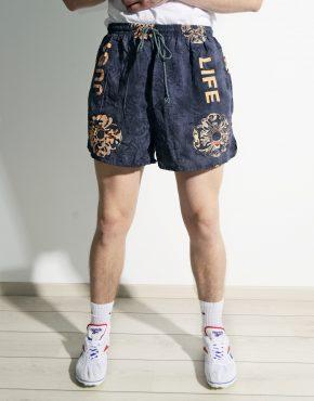 Vintage summer shorts mens grey