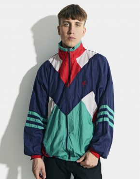 80s retro multi colour block jacket