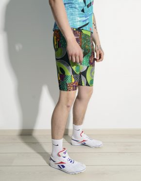 Cycling tight shorts multi colour unisex