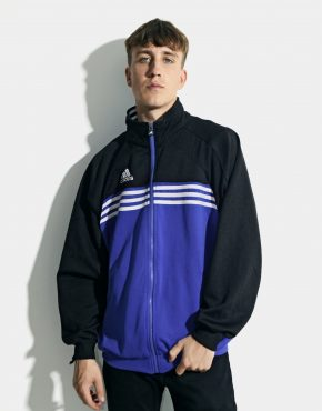 Old School ADIDAS track jacket men blue black