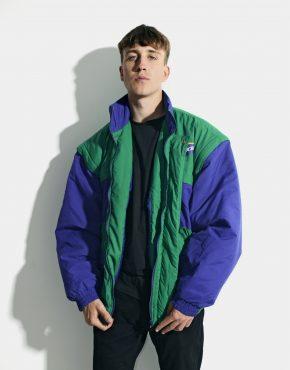 80s vintage puffer jacket men