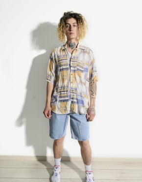 90s pattern shirt men