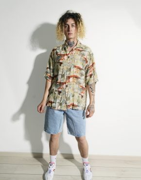 Hawaiian 90s pattern shirt men