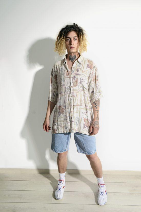 90s shirt multi colour