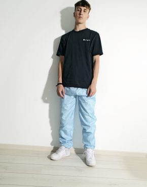 Vintage festival blue nylon pants