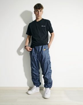 NIKE vintage dark blue shell pants