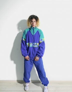 80s retro block jacket