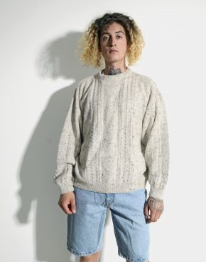 Vintage sweater mens beige