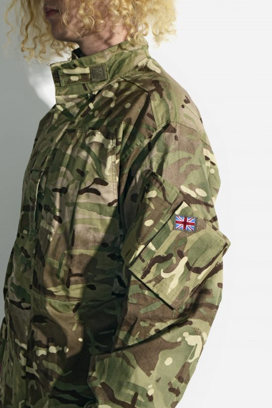 Vintage camo military mens jacket