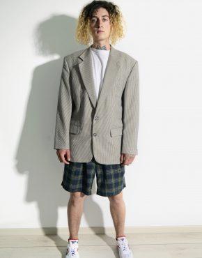 Vintage oversized checkered blazer