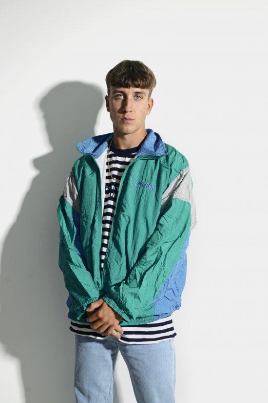 90s retro windbreaker jacket